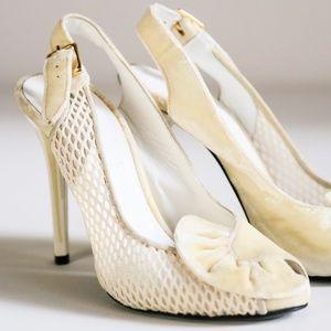 L'Wren Scott Lady Fan Cream Velvet Heels | Bride